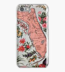 Vintage Map of Florida (1917) iPhone Case/Skin
