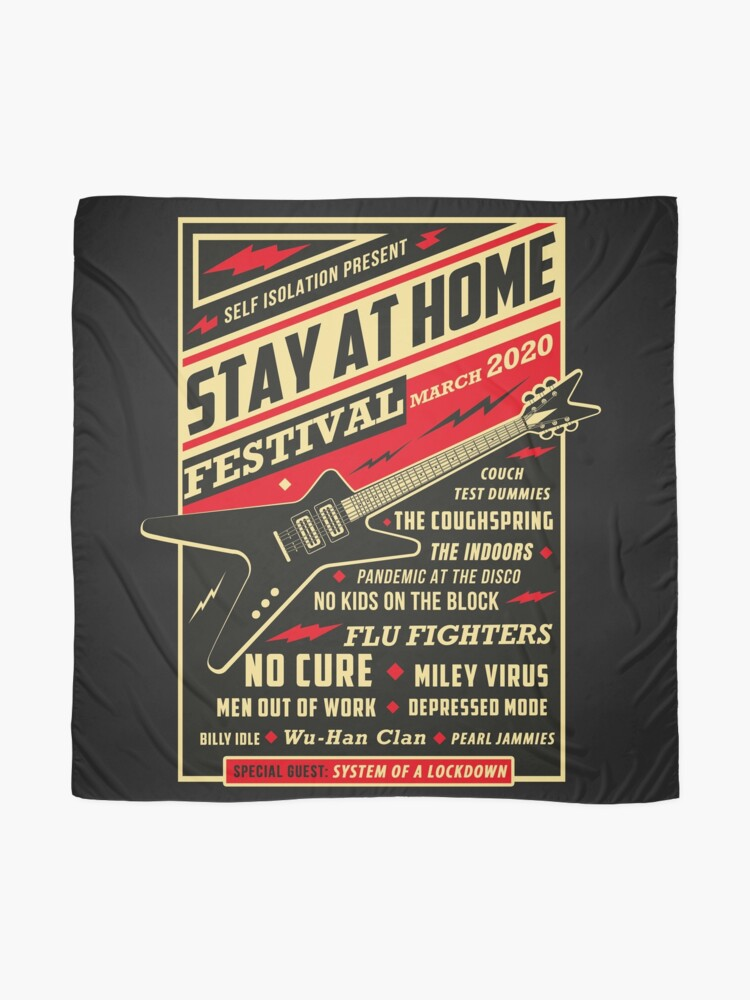 Alternate view of Quarantine Social Distancing Stay Home Festival 2020 Scarf