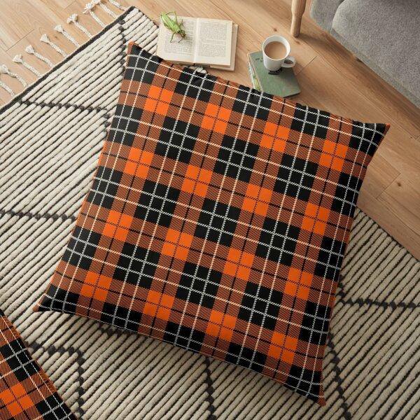 Geomatric line pattern for birthdaygift orange Floor Pillow