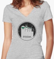 Minimalist Nihilist Women's Fitted V-Neck T-Shirt