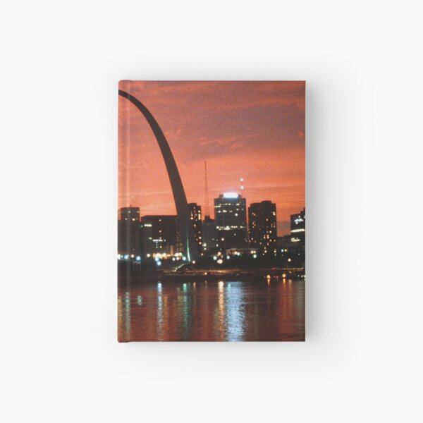 The St. Louis Arch at Dusk Photograph Hardcover Journal
