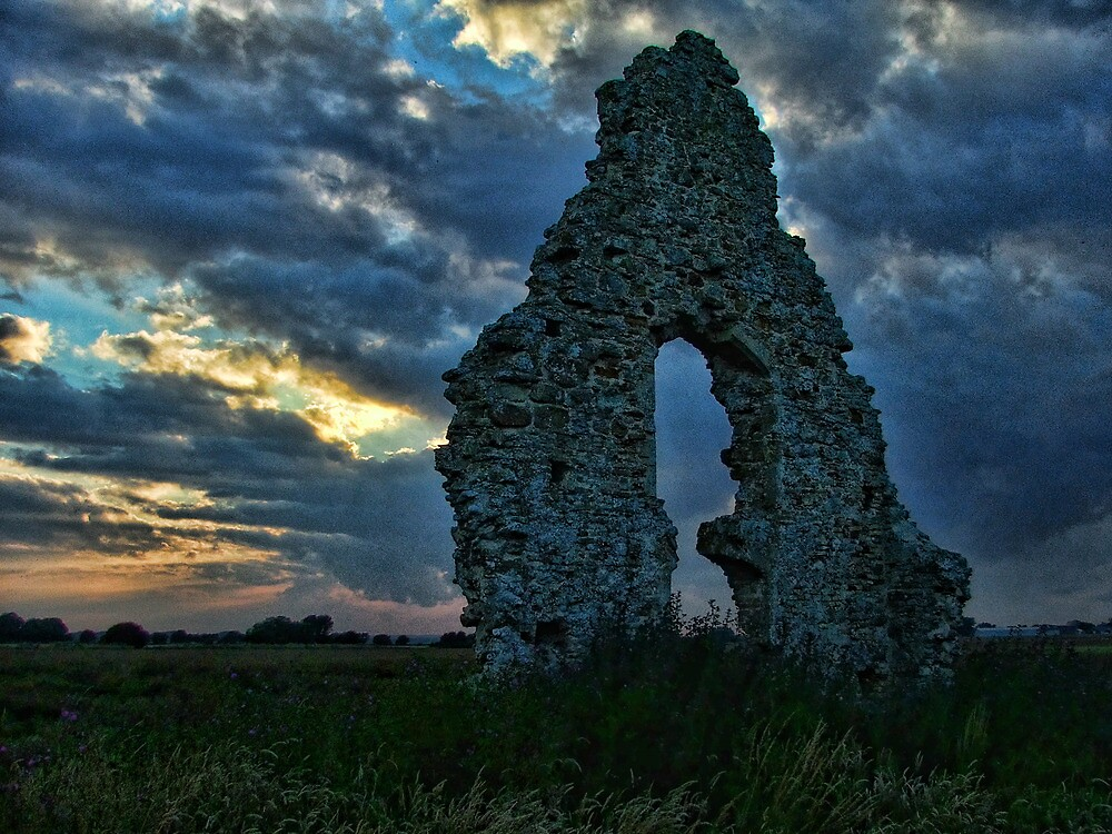 Midley Church Ruins at Sunset by Dave Godden
