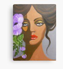 A LAVENDER FLOWER IN HER HAIR Canvas Print