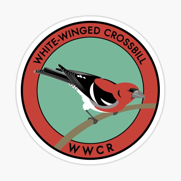 White-winged Crossbill Sticker