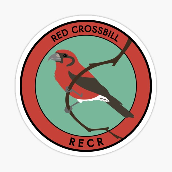 Red Crossbill Sticker