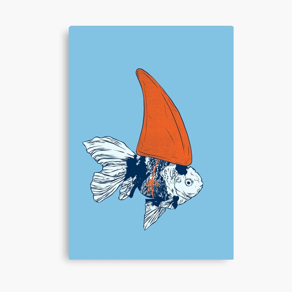 Big fish in a small pond Canvas Print