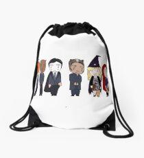 d43b1de3927a BAU unit Criminal minds halloween Drawstring Bag