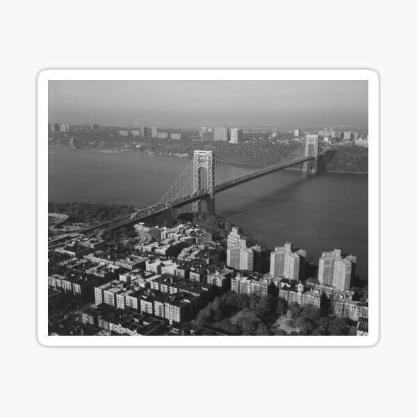 George Washington Bridge NYC Photograph Sticker
