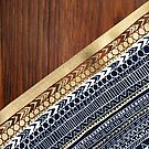 Navy & Gold Tribal on Wood by Tangerine-Tane