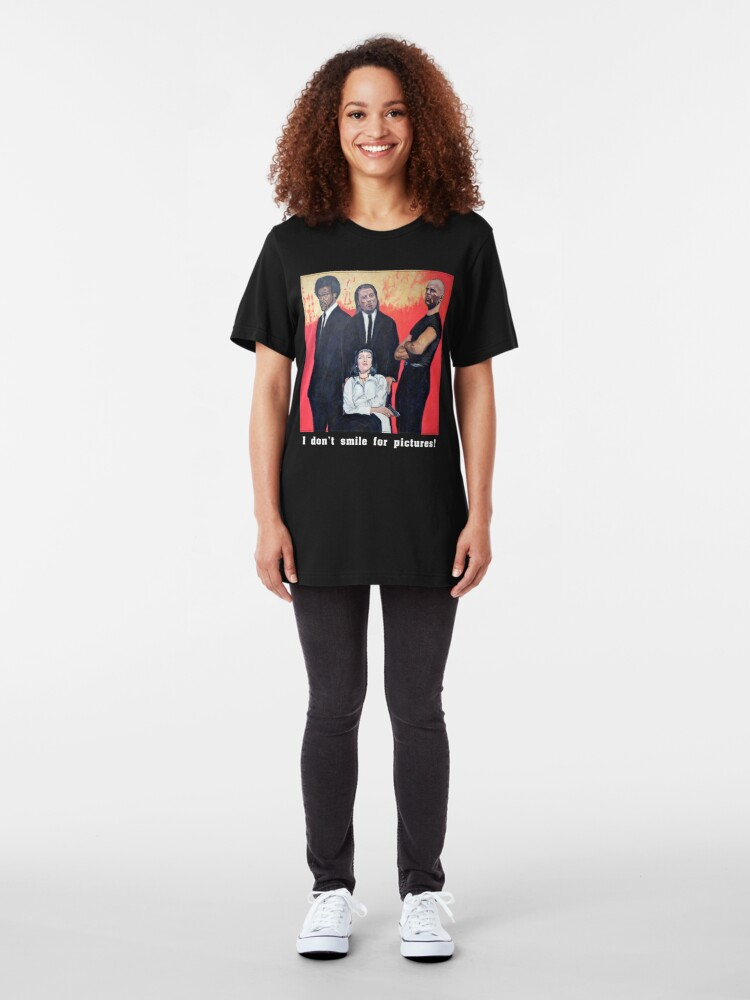Alternate view of I Don't Smile for Pictures Slim Fit T-Shirt