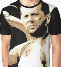 Bruce Willis Vector Illustration Graphic T-Shirt