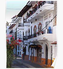 Impressions - Streets Of Puerto Vallarta IV / Impresiónes - Calles De Puerto Vallarta Poster