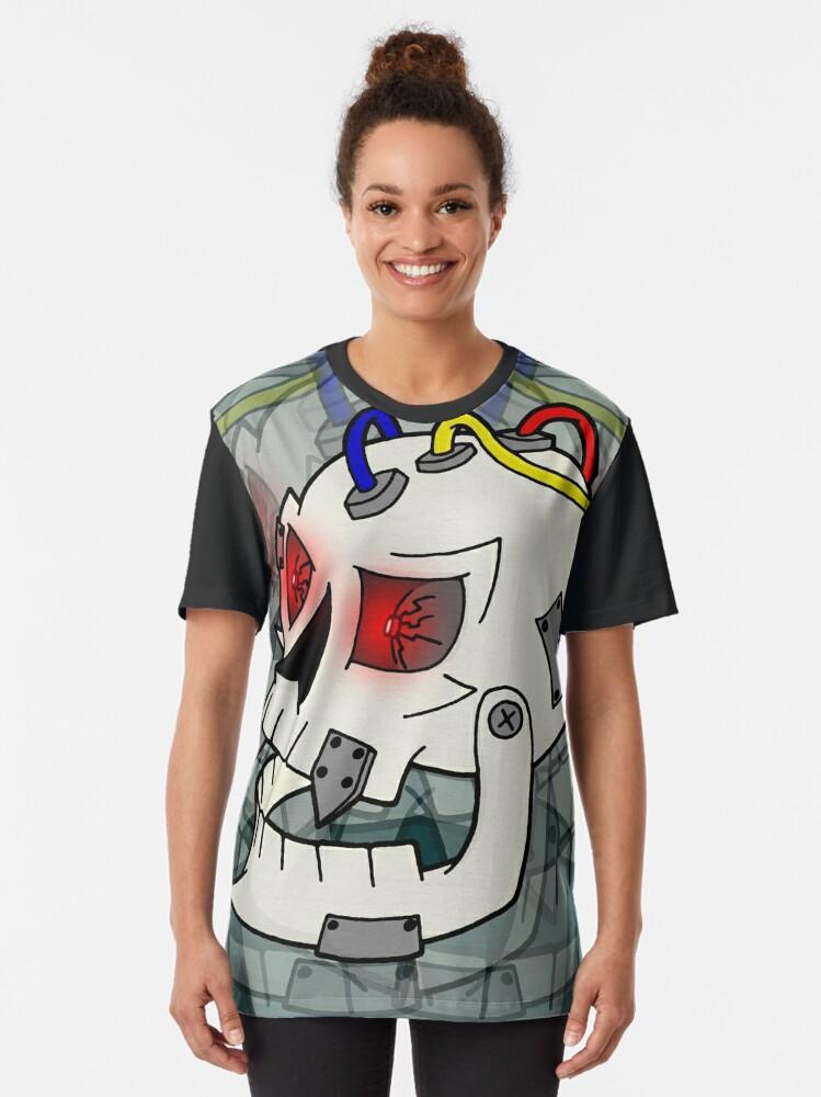 Alternate view of Bionic Skull Graphic T-Shirt