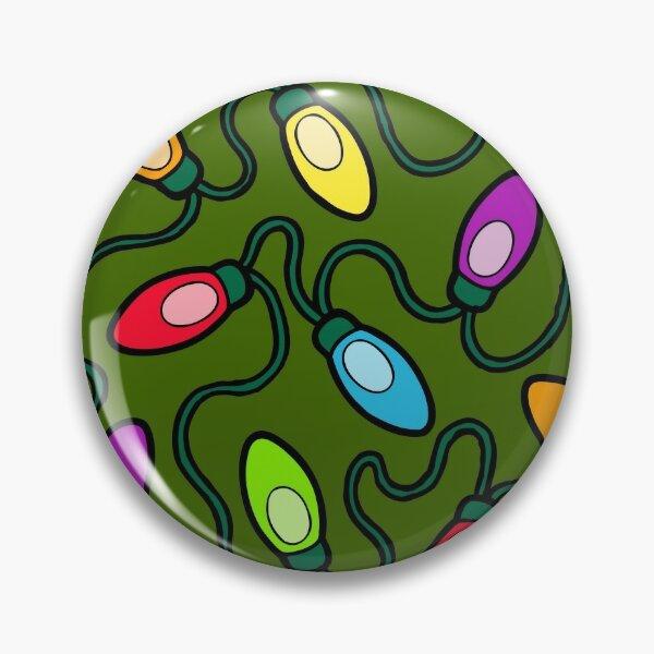 Chrismas Fairy Lights Pattern Pin
