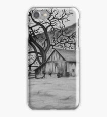 """""""Peaceful Valley"""" - Charcoal/Graphite  iPhone Case/Skin"""