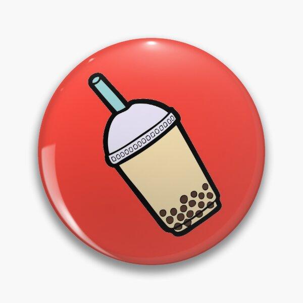 Bubble Tea Pattern in Red Pin