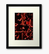 Red Scrolls Framed Print
