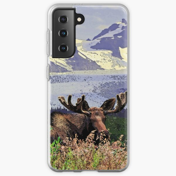 Glacier Moose Samsung Galaxy Soft Case