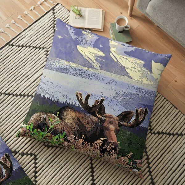 Glacier Moose Floor Pillow