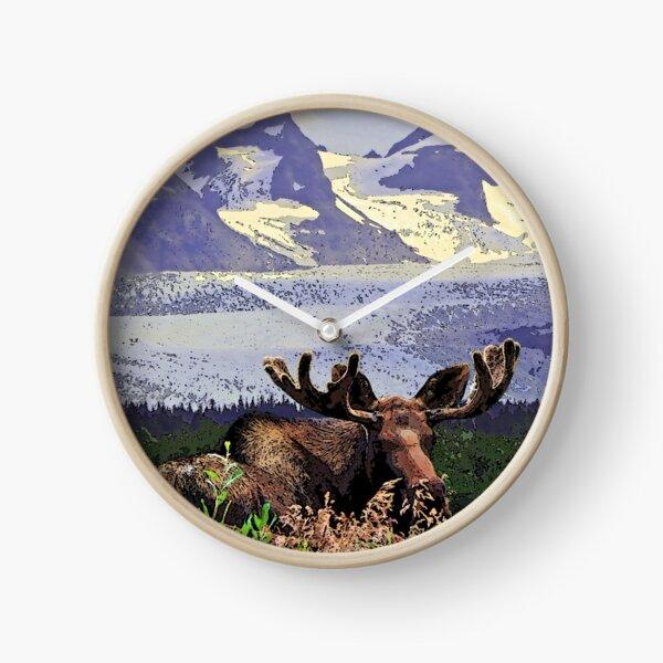 Glacier Moose Clock