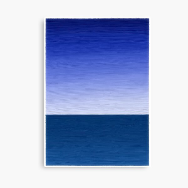 Simple Abstract Horizon over Water Canvas Print
