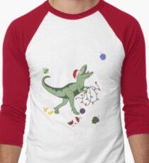 T-Rex Christmas Dinosaur - Dinosaur Christmas Men's Baseball ¾ T-Shirt