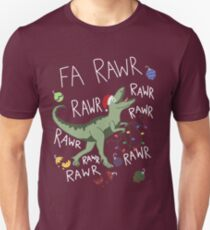 T-Rex Weihnachtsdinosaurier - Dinosaurier-Weihnachten Unisex T-Shirt