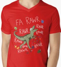 T-Rex Christmas Dinosaur - Dinosaur Christmas Men's V-Neck T-Shirt