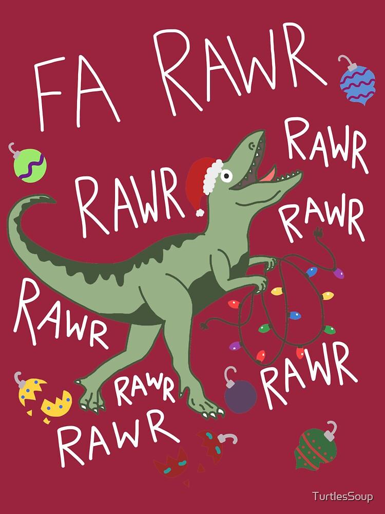 T-Rex Christmas Dinosaur - Dinosaur Christmas   Long Sleeve