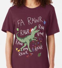 T-Rex Christmas Dinosaur - Dinosaur Christmas Slim Fit T-Shirt