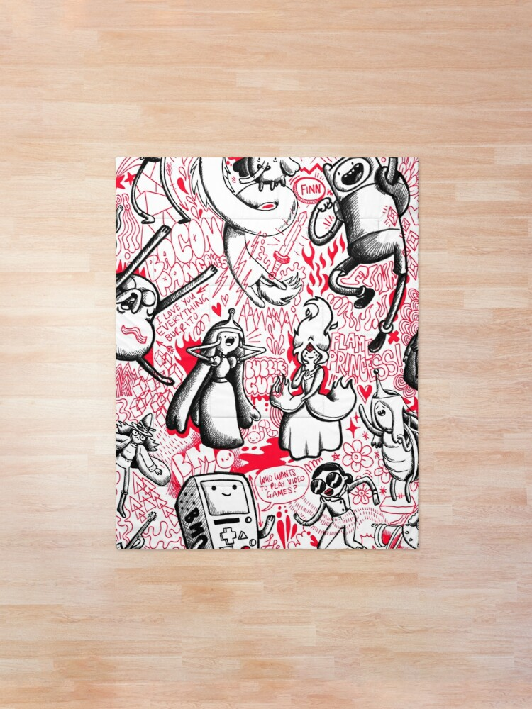 Alternate view of My Adventure Time Sketchbook Comforter