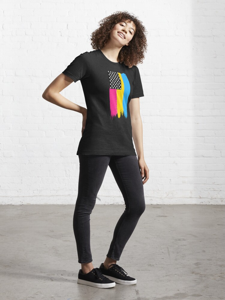 Alternate view of Pansexual Pride Stars and Stripes Essential T-Shirt