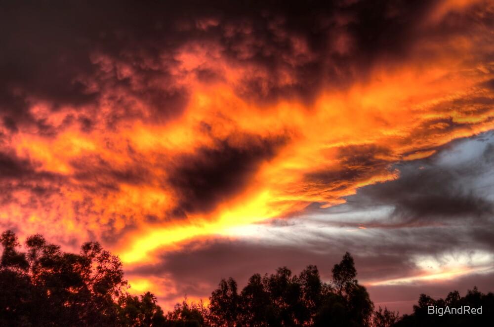 sunset in Kelmscott by BigAndRed
