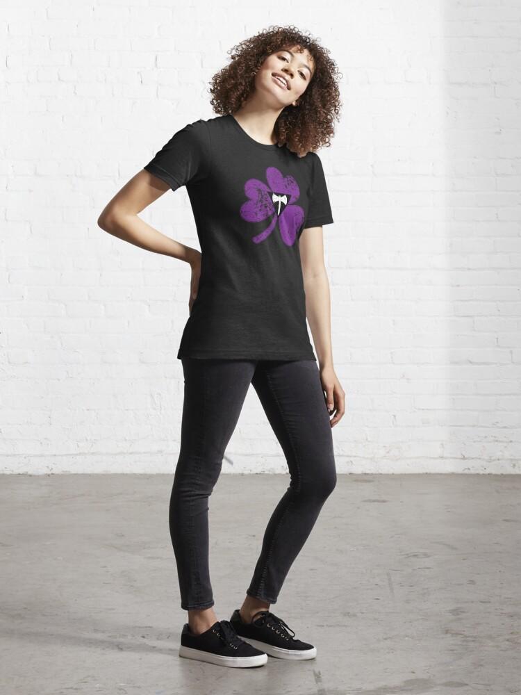 Alternate view of Lesbian Labrys Shamrock Pride Flag Essential T-Shirt