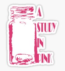 A Study in Pink Sticker