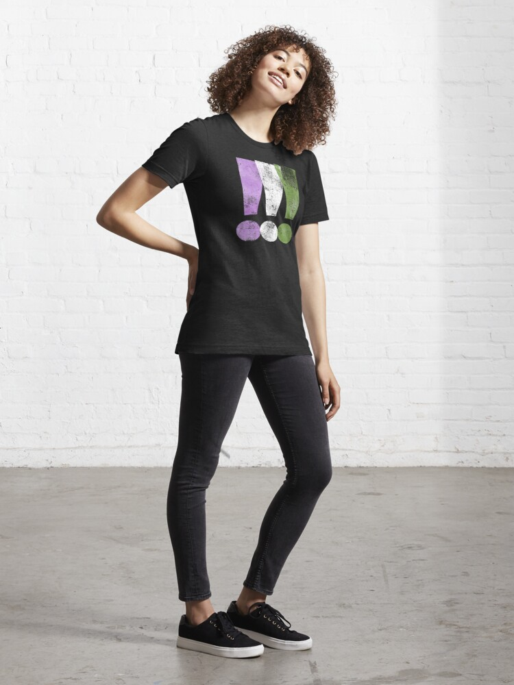 Alternate view of Genderqueer Pride Exclamation Points Essential T-Shirt