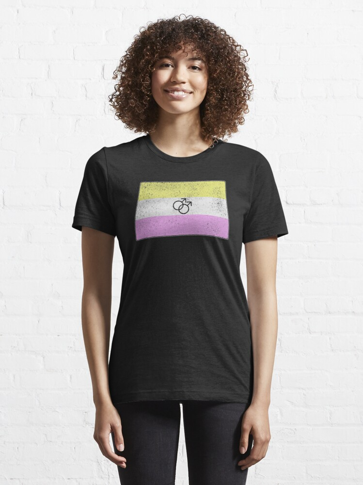 Alternate view of Distressed Gay Twink Pride Flag Essential T-Shirt