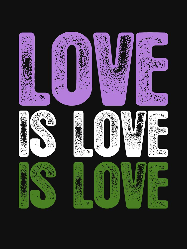 Genderqueer Pride Love is Love is Love by valador