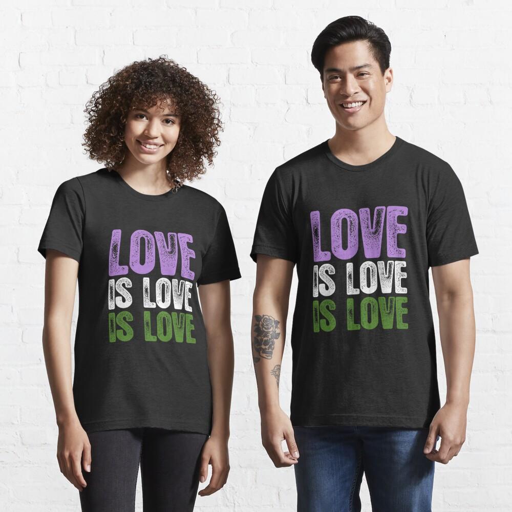 Genderqueer Pride Love is Love is Love Essential T-Shirt