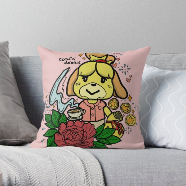 Off To New Horizons Isabelle  Throw Pillow
