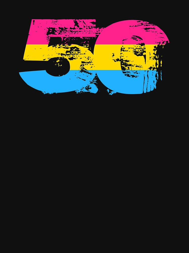 Pansexual Grunge 50 Pride Flag by valador