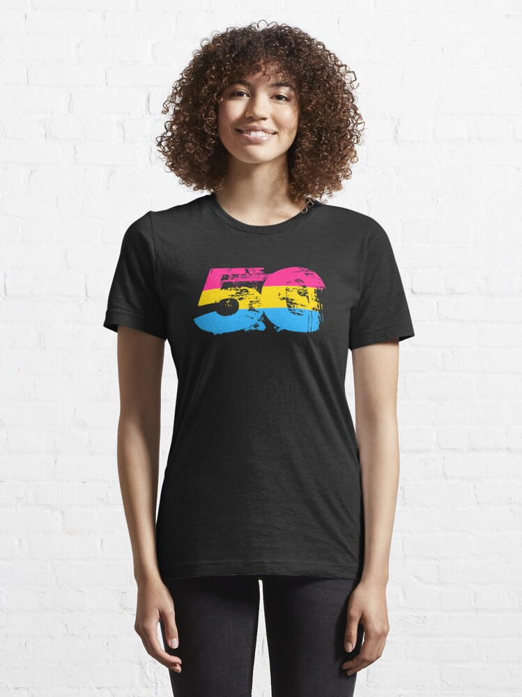 Alternate view of Pansexual Grunge 50 Pride Flag Essential T-Shirt