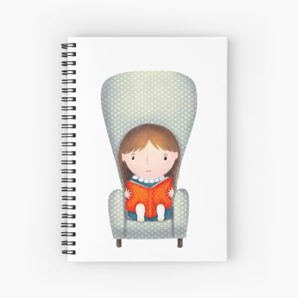 Reading Comfortably at home Spiral Notebook