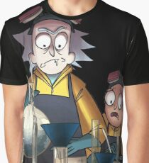 Breaking Bad Rick and Morty Graphic T-Shirt