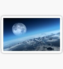 Earth icy ocean aerial view Sticker