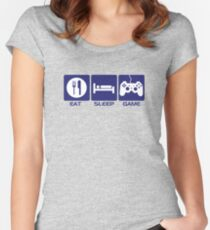 Eat Sleep Game Women's Fitted Scoop T-Shirt