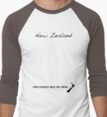 New Zealand - 100% Further Than You Think Men's Baseball ¾ T-Shirt