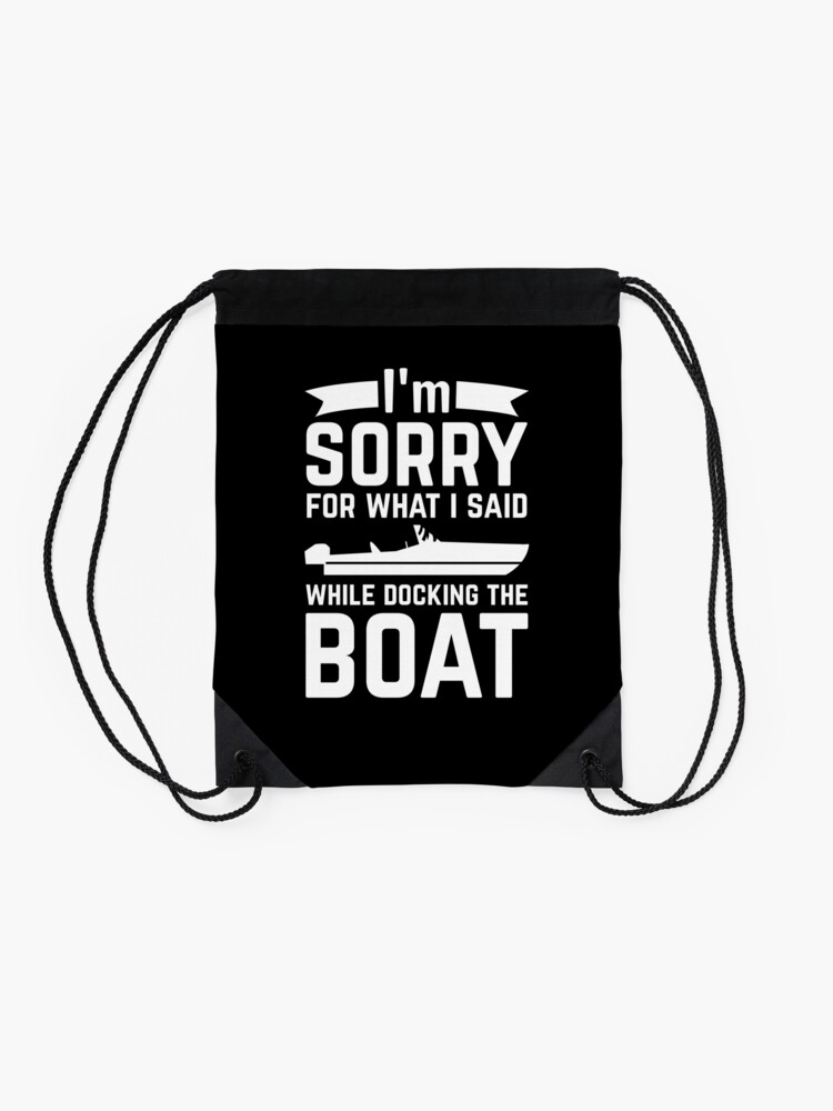 Alternate view of Funny Boat Boating Motorboat Captain Gift Drawstring Bag