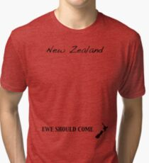 New Zealand - Ewe Should Come Tri-blend T-Shirt