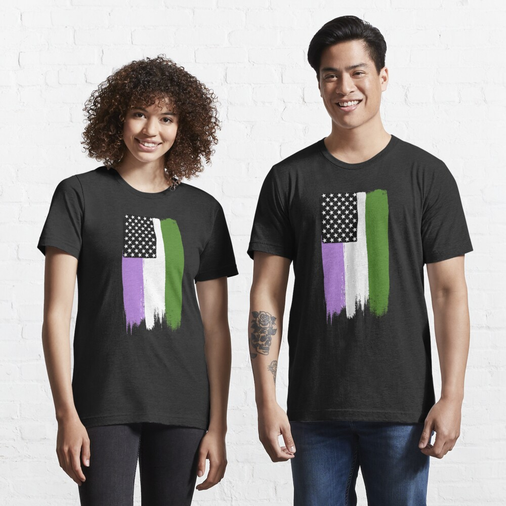 Genderqueer Pride Stars and Stripes Essential T-Shirt